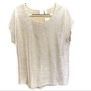 Chico's Sierra Shimmer Tee Champagne Top